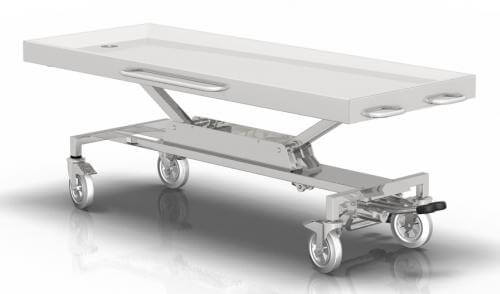 NEBROPATH N3-102 Washing and autopsy table on wheels